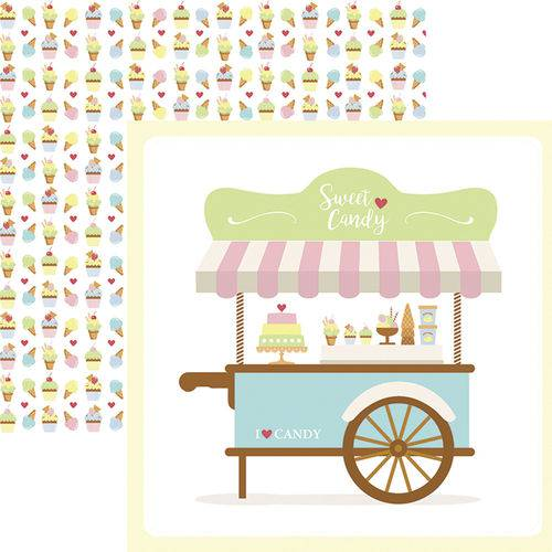 Papel Scrapbook Dupla Face Sweet Candy Guirlanda Sdf657 - Toke e Crie By Mariceli