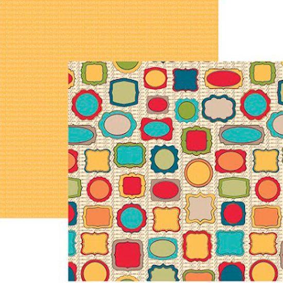 Papel Scrapbook Família Molduras Sdf579 - Toke e Crie By Flavia Terzi
