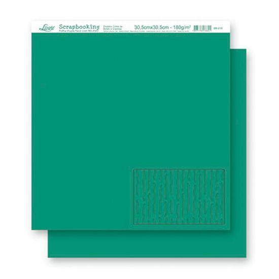 Papel Scrapbook Folha Dupla Face Relevo SR-019 - Litoarte