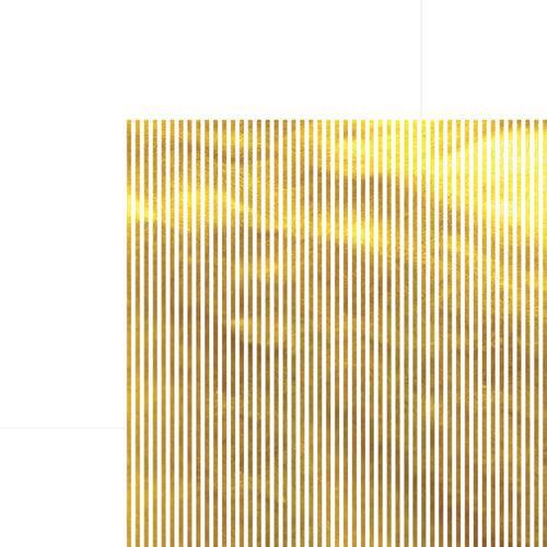 Papel Scrapbook Listras Dourado e Branco Sdf613 - Toke e Crie