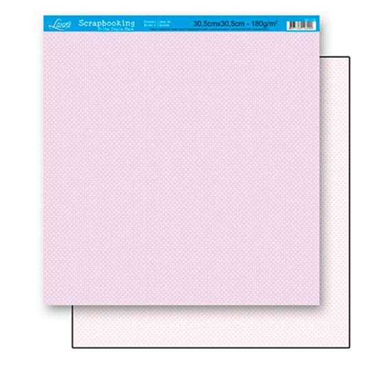 Papel Scrapbook Litoarte 30,5x30,5 SD-178 Poá Lilás