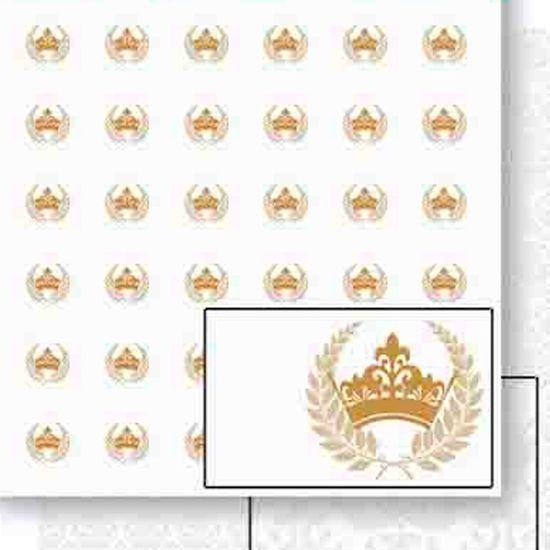 Papel Scrapbook Litoarte 30,5x30,5 SD-454 Coroa e Ramos Dourado