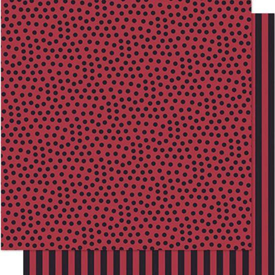 Papel Scrapbook Litoarte 30,5x30,5 SD-580 Poá e Listras