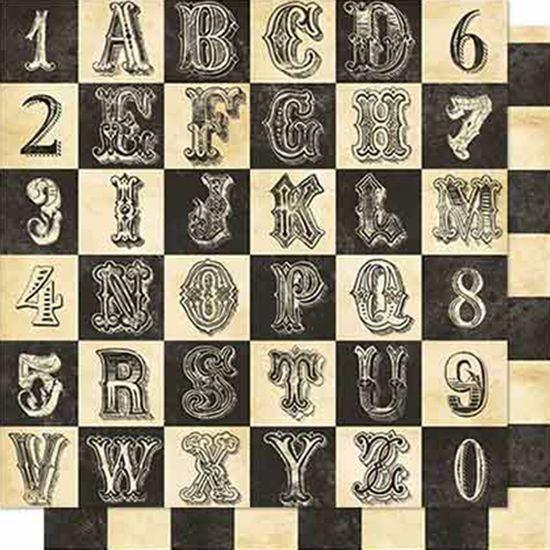 Papel Scrapbook Litoarte 30,5x30,5 SD-665 Alfabeto e Numeral