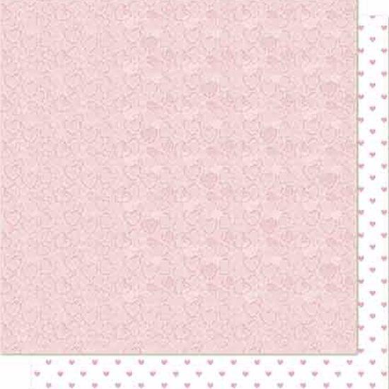 Papel Scrapbook Litoarte 30,5x30,5 SD-683 Corações Rosa