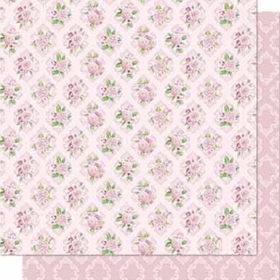 Papel Scrapbook Litoarte 30,5x30,5 SD-688 Flores e Arabesco