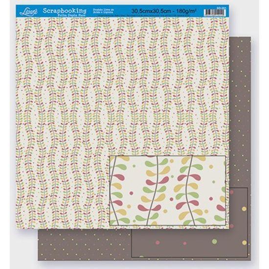 Papel Scrapbook Litoarte 30,5x30,5 SD-273 Abstrato e Poá Colorido
