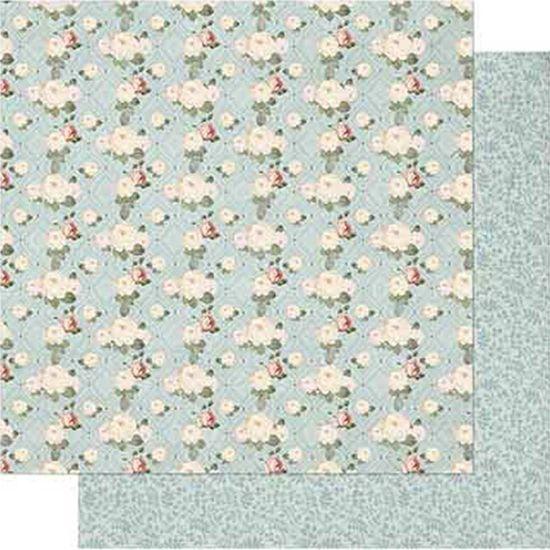 Papel Scrapbook Litoarte 30,5x30,5 SD-727 Shabby Chic Mini Rosas