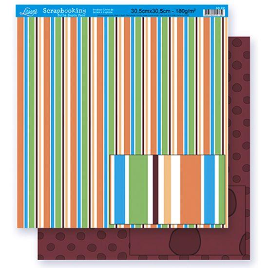Papel Scrapbook Litoarte 30,5x30,5 SD-281 Listras e Poá