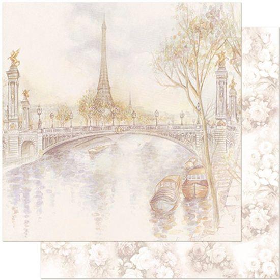 Papel Scrapbook Litoarte 30,5x30,5 SD-960 Paisagem de Paris