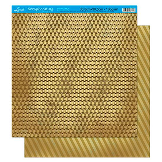 Papel Scrapbook Litoarte 30,5x30,5 SD-222 Abstrato Bege