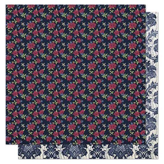 Papel Scrapbook Litoarte 30,5x30,5 SD1-010 Mini Flor e Arabesco