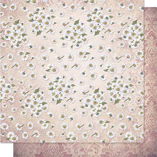 Papel Scrapbook Litoarte 30,5x30,5 SD1-069 Margaridas