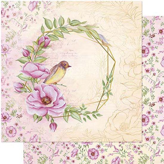 Papel Scrapbook Litoarte 30,5x30,5 SD1-081 Rosa Silvestre