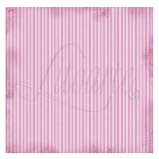 Papel Scrapbook Litoarte 30,5x30,5 SS-016 Listrado Rosa