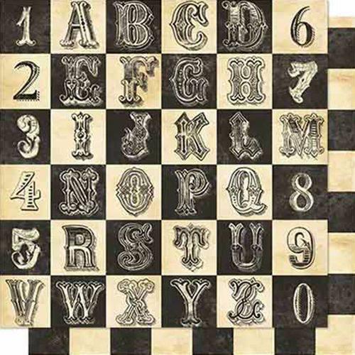Papel Scrapbook Litoarte Sd-665 Dupla Face 30,5x30,5cm Alfabeto e Numeral