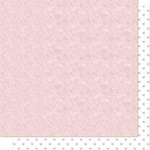 Papel Scrapbook Litoarte Sd-683 Dupla Face 30,5x30,5cm Arabesco e Poá Rosa