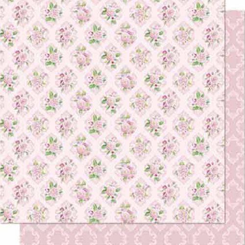 Papel Scrapbook Litoarte Sd-688 Dupla Face 30,5x30,5cm Flores e Arabesco