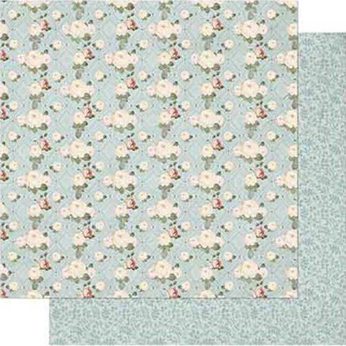 Papel Scrapbook Litoarte Sd-727 Dupla Face 30,5x30,5cm Shabby Chic Mini Rosas