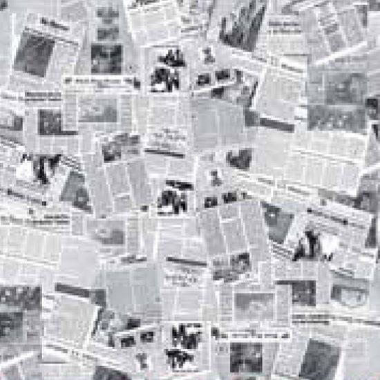Papel Scrapbook Litocart 30,5x30,5 LSC-184 Jornal Preto e Branco