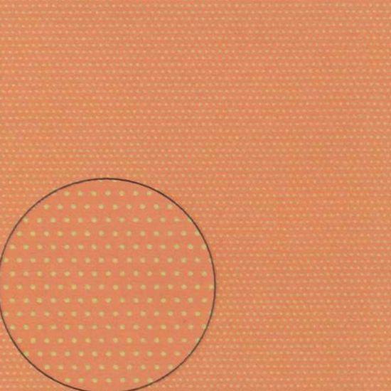 Papel Scrapbook Litocart 30,5x30,5 LSC-292 Poá Branco e Laranja