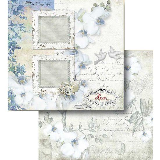 Papel Scrapbook Litocart 30,5x30,5 LSCD-425 Molduras e Flores