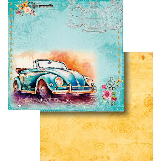 Papel Scrapbook Litocart 30,5x30,5 LSCD-439 Fusca Conversível