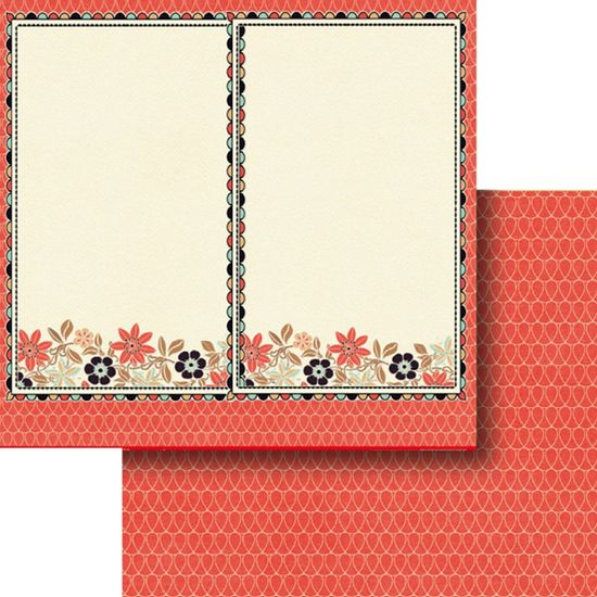 Papel Scrapbook Litocart 30,5x30,5 LSCD-373 Moldura e Flores