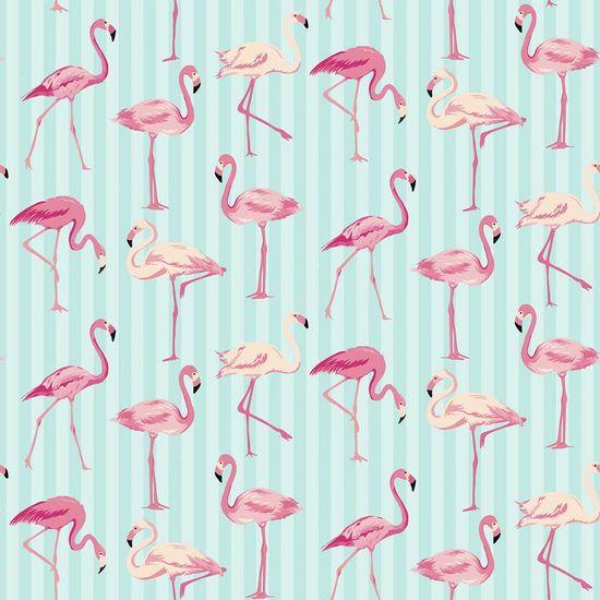 Papel Scrapbook Litocart 30,5x30,5 LSCE-007 Flamingos e Listras