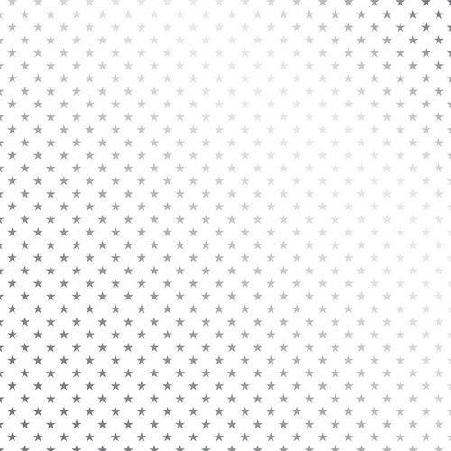 Papel Scrapbook Metalizada - SDF709 - Estrelas Prateado FD Branco - Toke e Crie