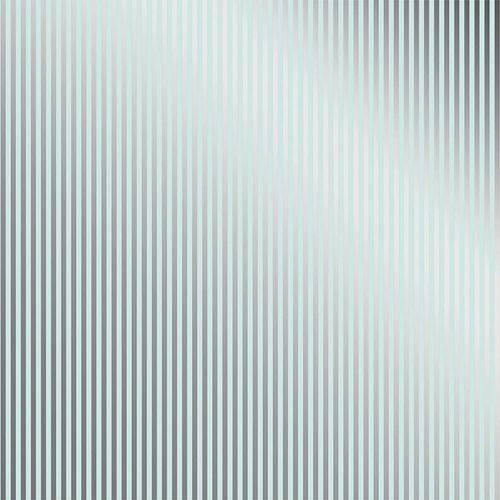 Papel Scrapbook Metalizada - SDF737 - Fd Azul Listras Prateado - Toke e Crie