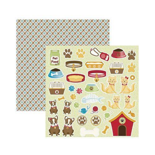 Papel Scrapbook Mini Básico - SMB025 - Pet Recortes - Toke e Crie