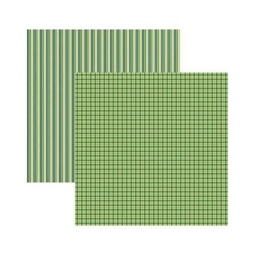 Papel Scrapbook Multitons KFSB497 Verde Xadrez e Litras