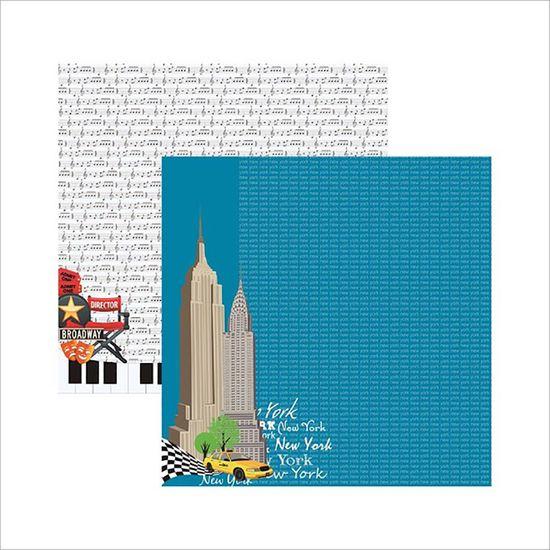 Papel Scrapbook New York Prédios SDF478 - Toke e Crie By Flavia Terzi