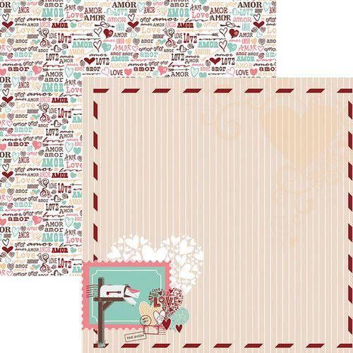 Papel Scrapbook o Amor Esta no Ar Moldura Sdf698 - Toke e Crie By Flavia Terzi