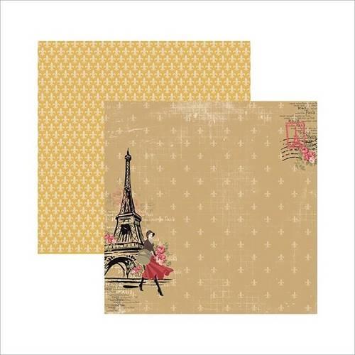 Papel Scrapbook Paris Fashion Torre SDF472 - Toke e Crie