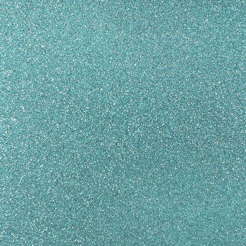 Papel Scrapbook - SDPG11 - Puro Glitter Azul Turquesa