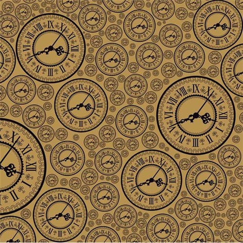 Papel Scrapbook Simples Relógios KFSK007 - Toke e Crie By Flavia Terzi
