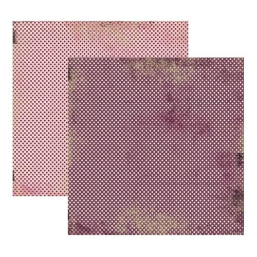 Papel Scrapbook Toke e Crie 30,5x30,5 KFSB168 Vintage Lilás Poá