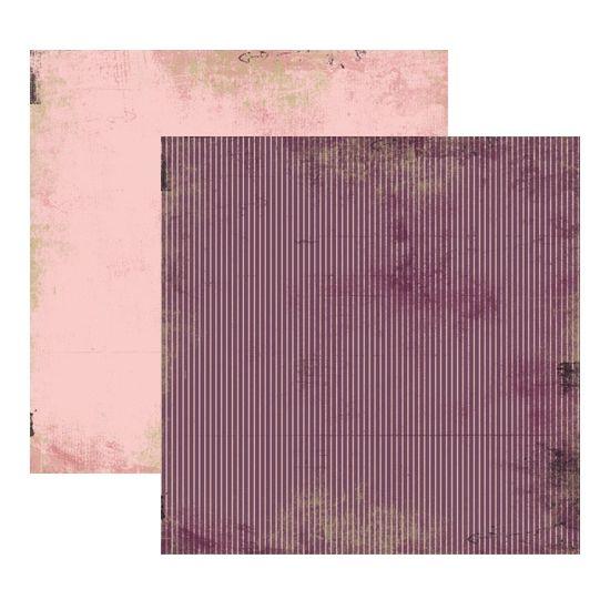 Papel Scrapbook Toke e Crie 30,5x30,5 KFSB171 Vintage Lilás Listras