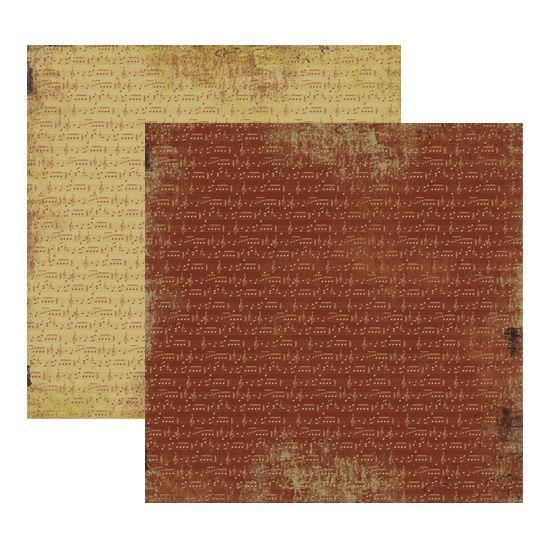 Papel Scrapbook Toke e Crie 30,5x30,5 KFSB179 Vintage Musical Marrom