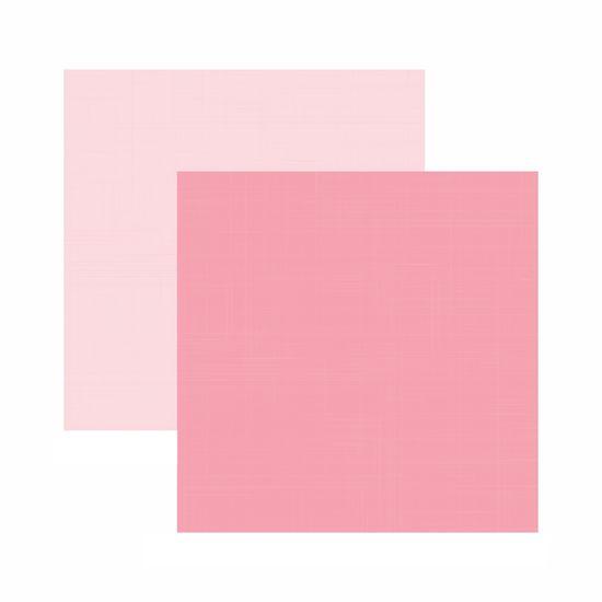 Papel Scrapbook Toke e Crie 30,5x30,5 KFSB546 Rosa Bebê Liso
