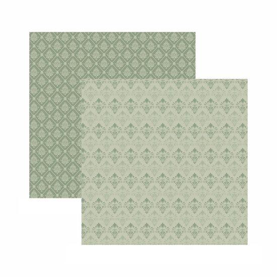 Papel Scrapbook Toke e Crie 30,5x30,5 KFSB562 Fendi Arabesco