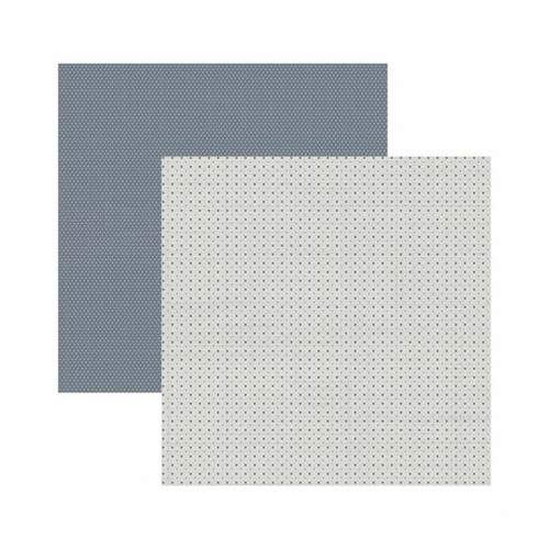 Papel Scrapbook Toke e Crie 30,5x30,5 KFSB571 Cinza Mini Poá