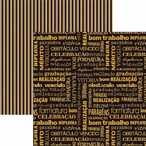 Papel Scrapbook Toke e Crie 30,5x30,5 SDF772 Palavras