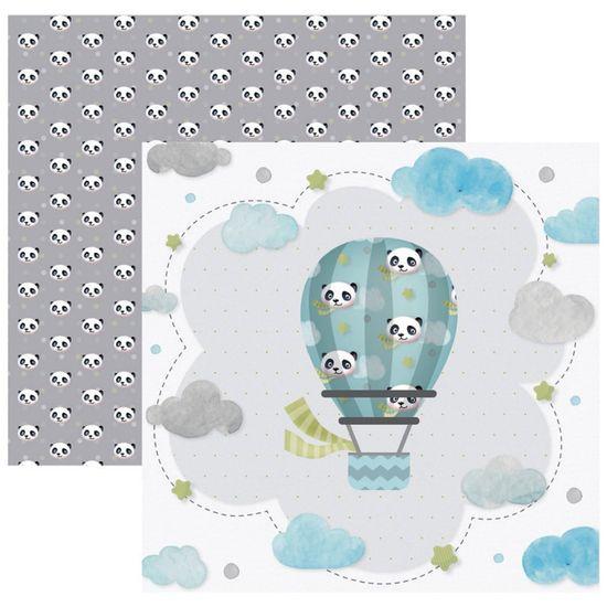 Papel Scrapbook Toke e Crie 30,5x30,5 SDF850 Baby Panda Viajante
