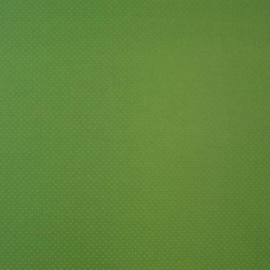 Papel Scrapbook Toke e Crie PCAR491 Dupla Face 30,5x30,5cm Cardstock Texturizado Bolinhas Verde Capim