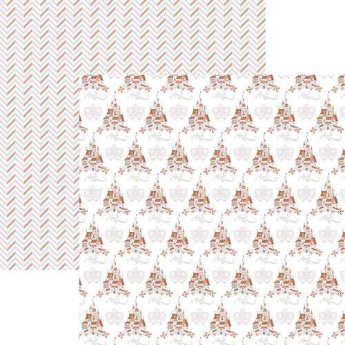 Papel Scrapbook Toke e Crie Sbd14 30,5x30,5cm Princesas Castelo