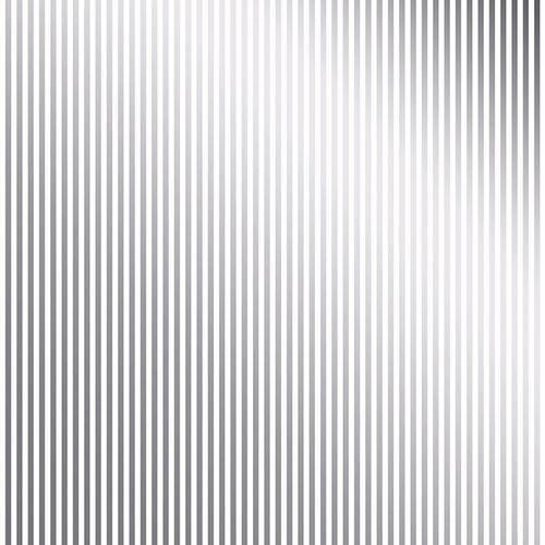 Papel Scrapbook Toke e Crie Sdf707 Simples 30,5x30,5cm Metalizado Listras Prateado Fundo Branco