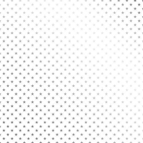 Papel Scrapbook Toke e Crie Sdf709 Simples 30,5x30,5cm Metalizado Estrelas Prateado Fundo Branco